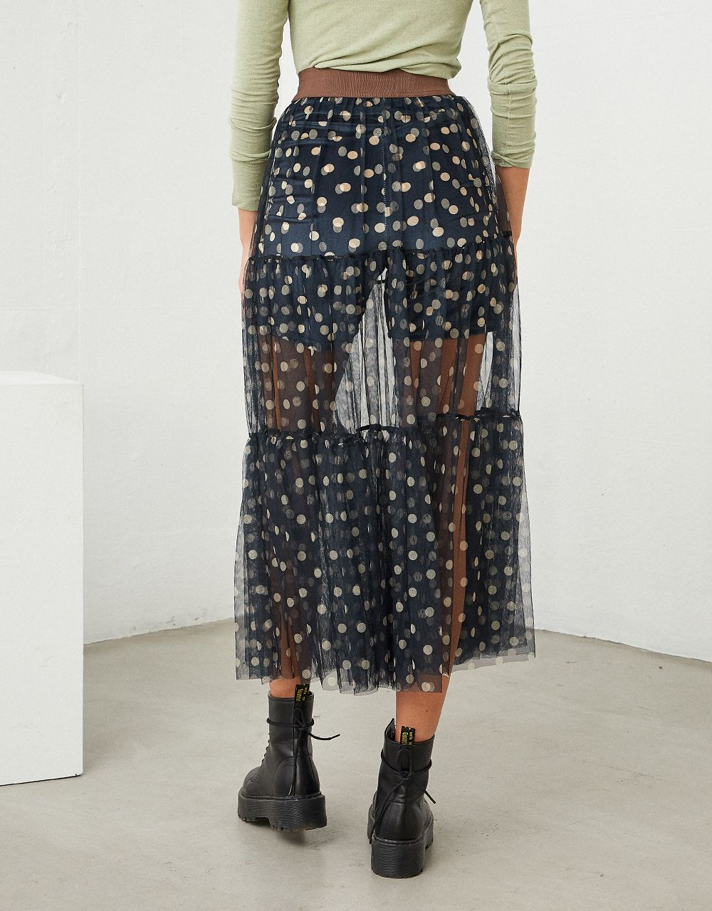 POLKA DOT SKIRT WITH TULLE