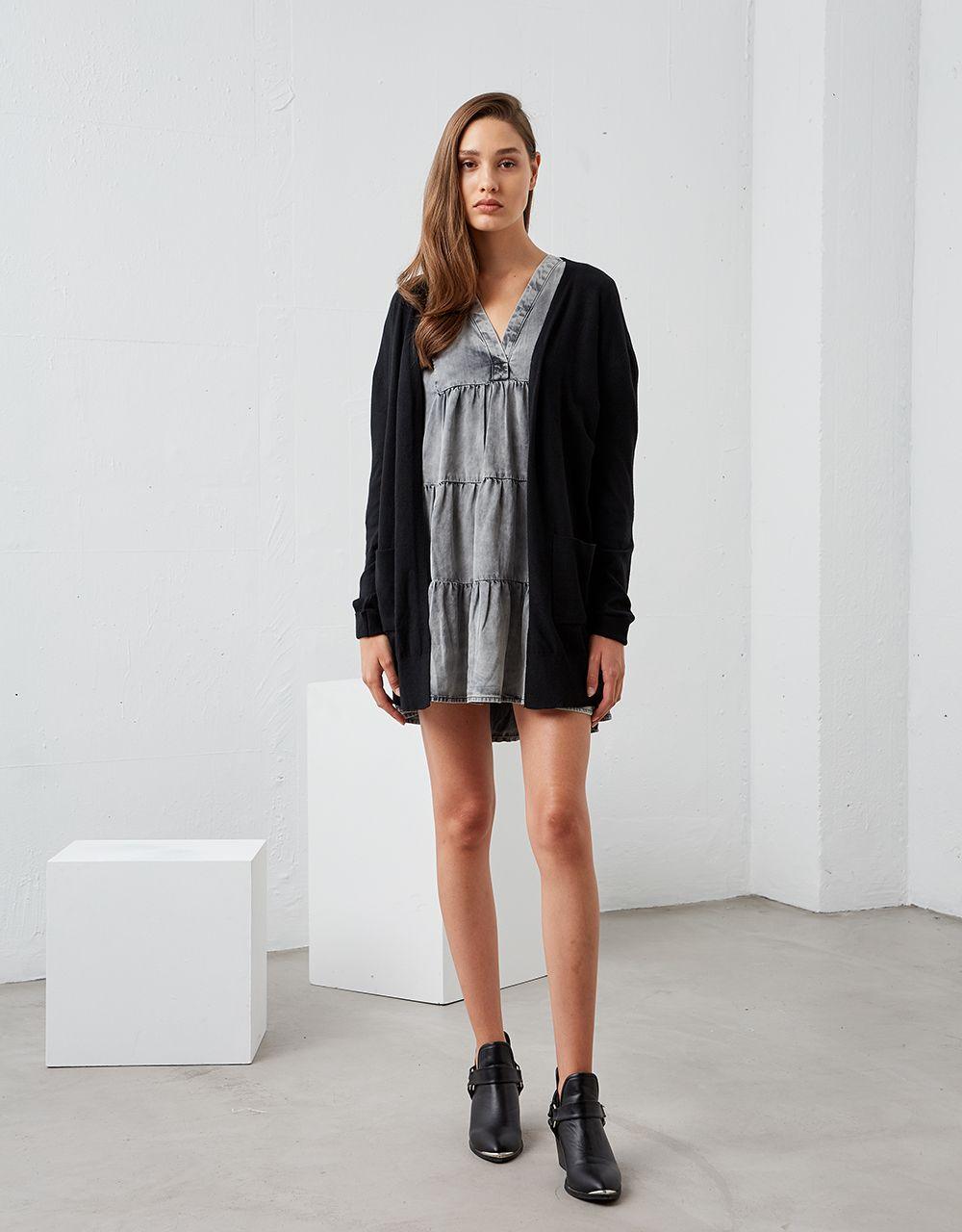 KNITTED CARDIGAN WITH POCKETS