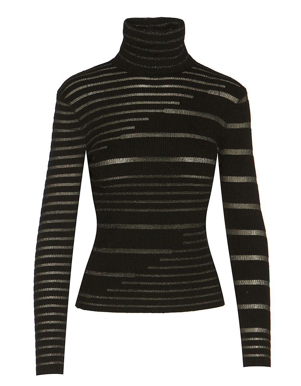 LUREX RIBBED KNITTED TOP