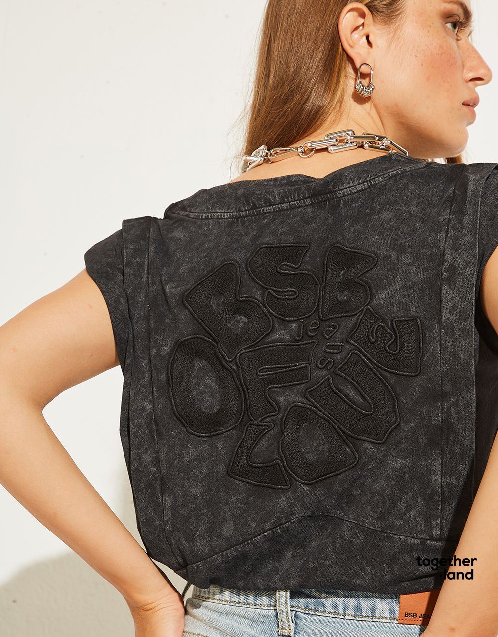 BLOUSE WITH EMBROIDERY - TOGETHERLAND