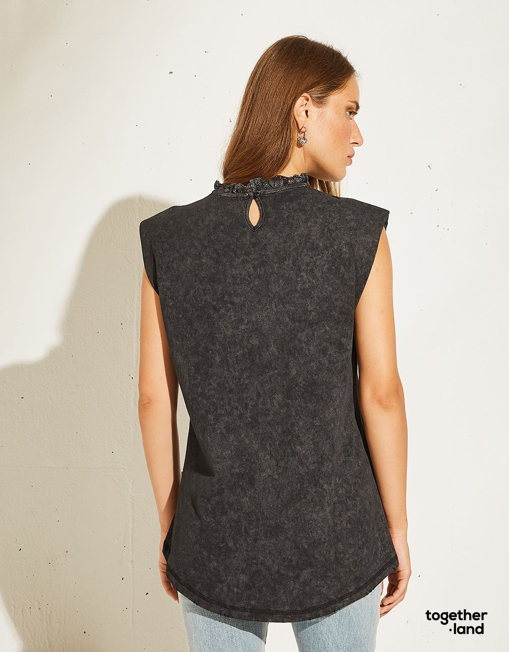 BLOUSE WITH EMBOSSED PRINT - TOGETHERLAND