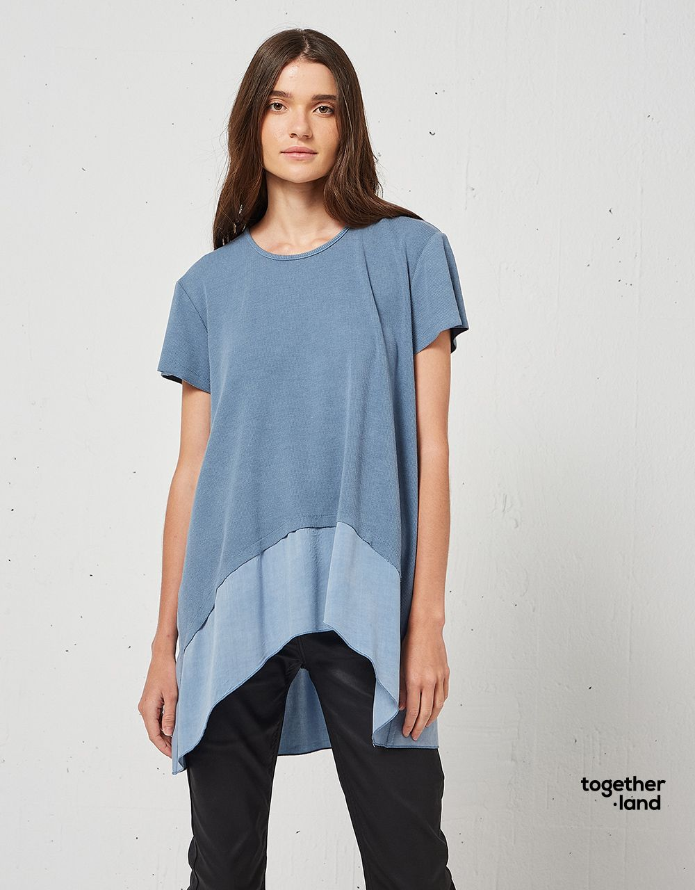 BLOUSE WITH RIB DETAILS - TOGETHERLAND