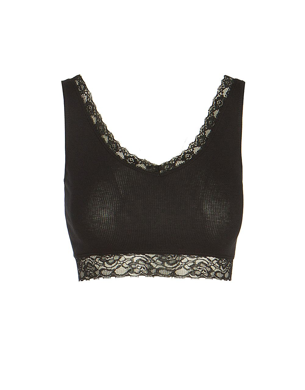 LACE RIB BUSTIER
