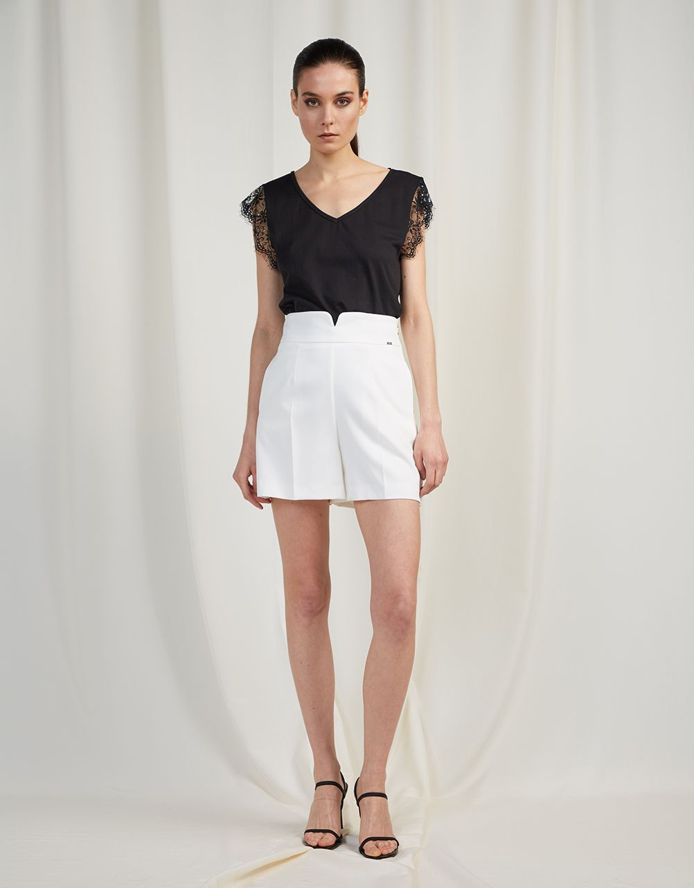 HIGH WAISTED TAILORED SHORTS
