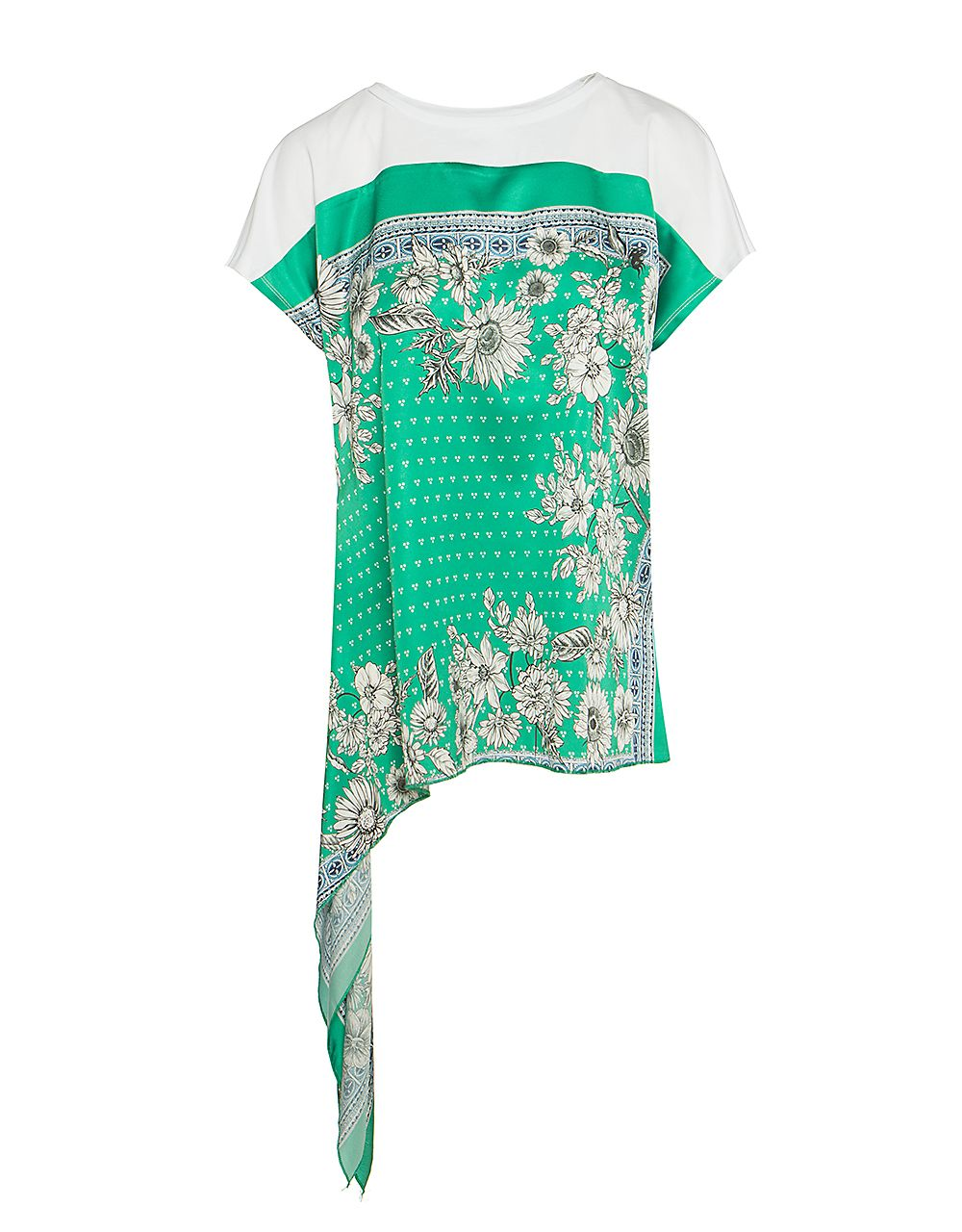 FLORAL T-SHIRT WITH SELF TIE