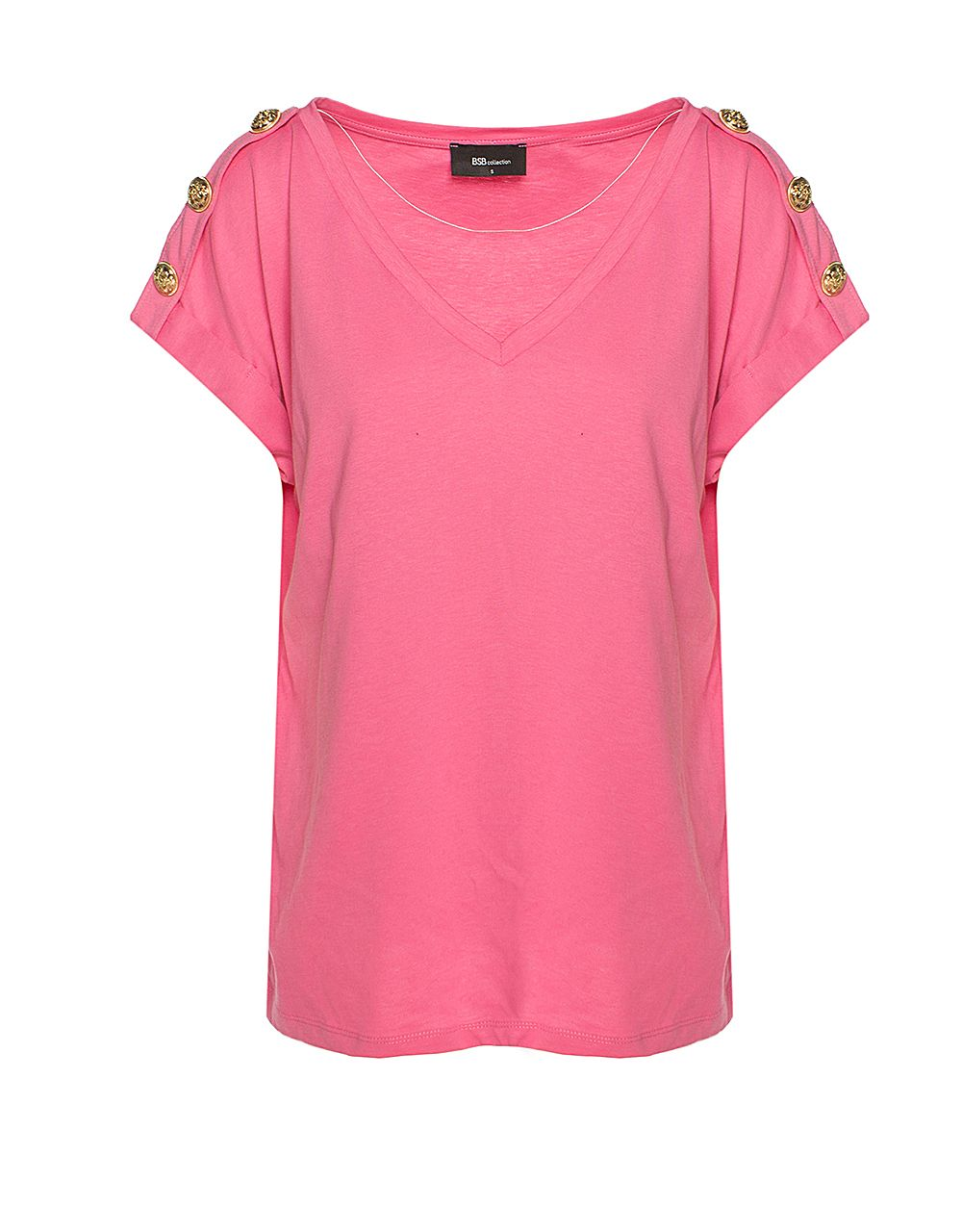 T-SHIRT WITH DECORATIVE BUTTONS
