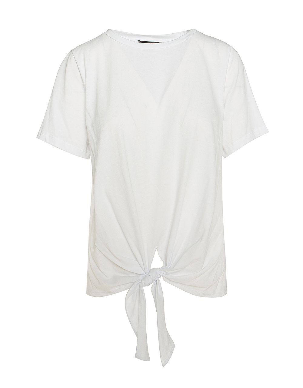 COTTON TOP WITH FRONT TIE