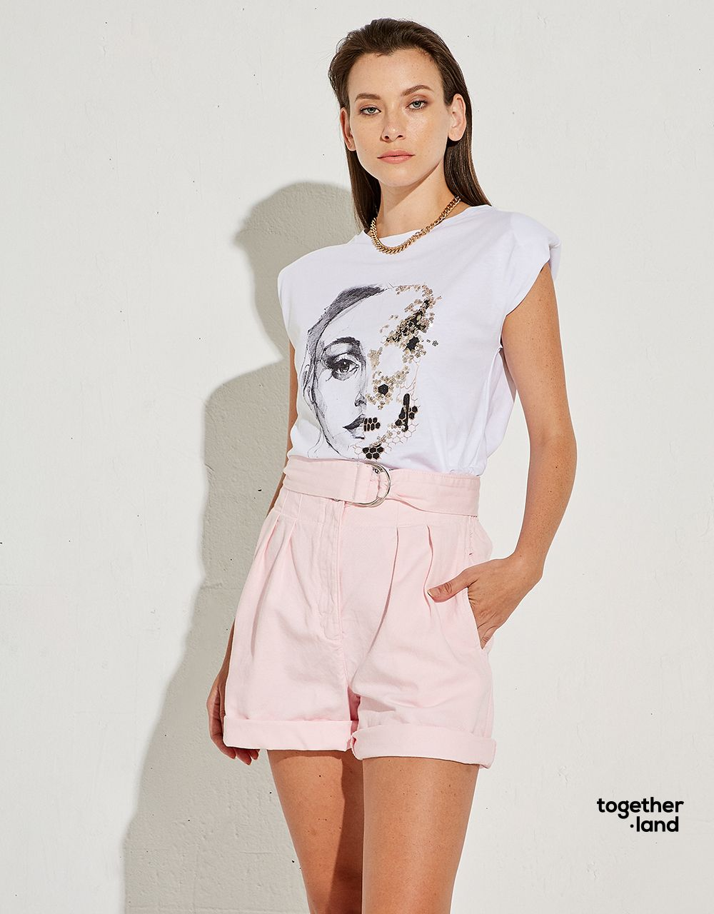 T-SHIRT WITH SEQUINS - TOGETHERLAND