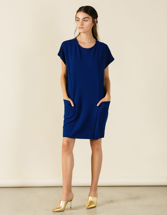 OVERSIZE MINI DRESS WITH POCKETS