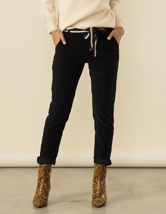 """SCARLET"" VELVET TOUCH TROUSERS"
