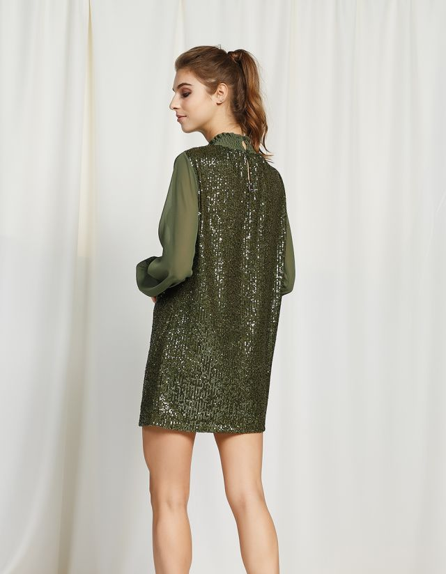 LONG SLEEVE SEQUIN DRESS