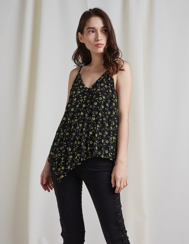 STRAPPY FLORAL PRINT TOP
