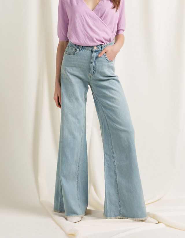FEYA WIDE LEG DENIM JEANS