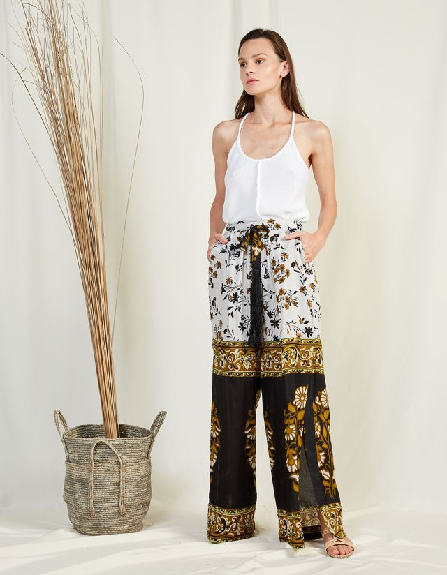 LIGHTWEIGHT PRINTED TROUSERS
