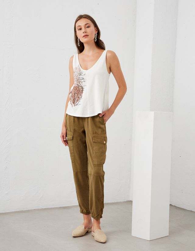 UTILITY TROUSERS WITH POCKETS