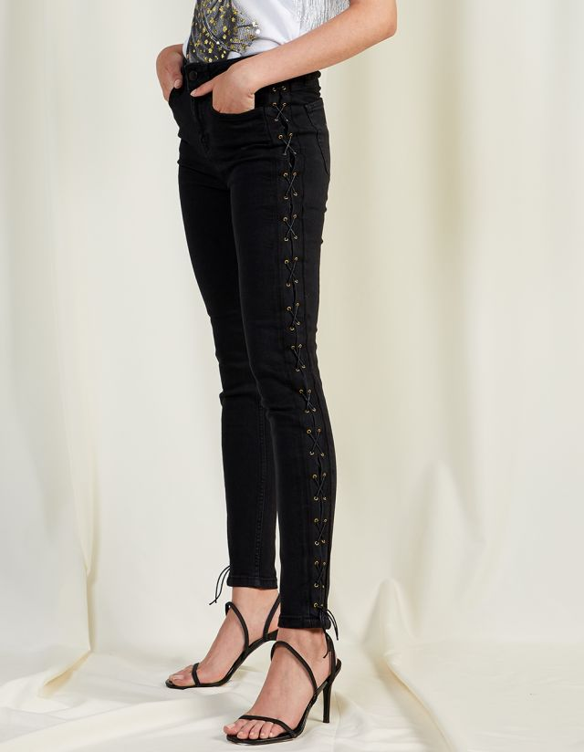 MARIANNA DENIM LACE UP JEANS