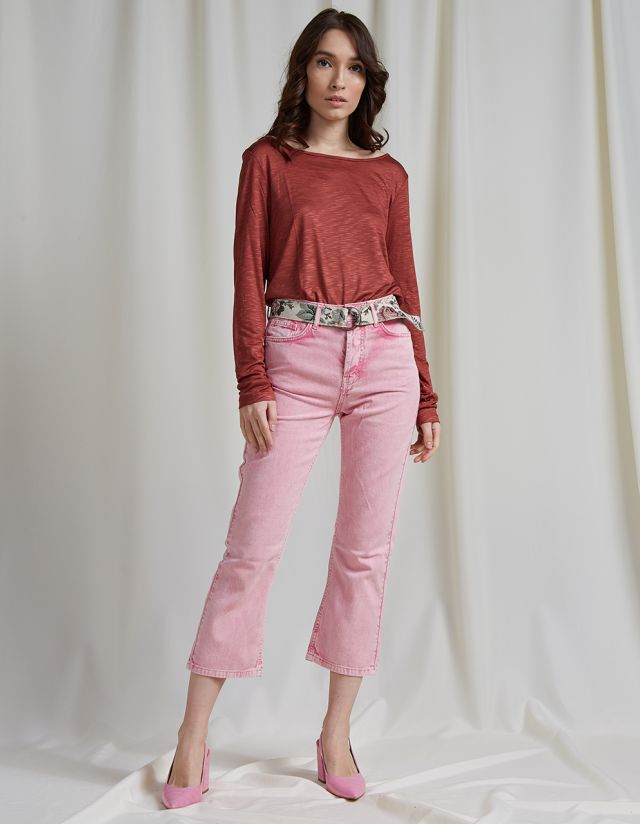KATY CROPPED FLARE JEANS