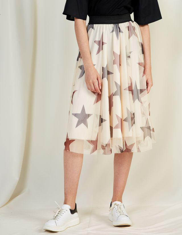 SKIRT WITH STAR PRINT