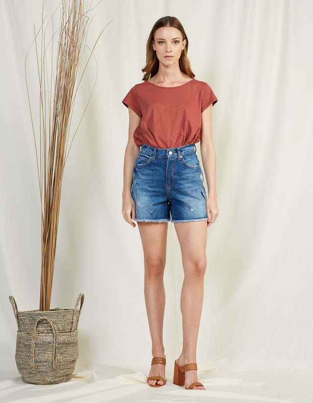 ALEXIA HIGH WAISTED DENIM SHORTS