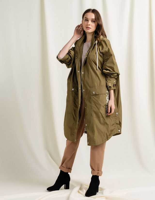 WATER RESISTANT PARKA WITH PRINT