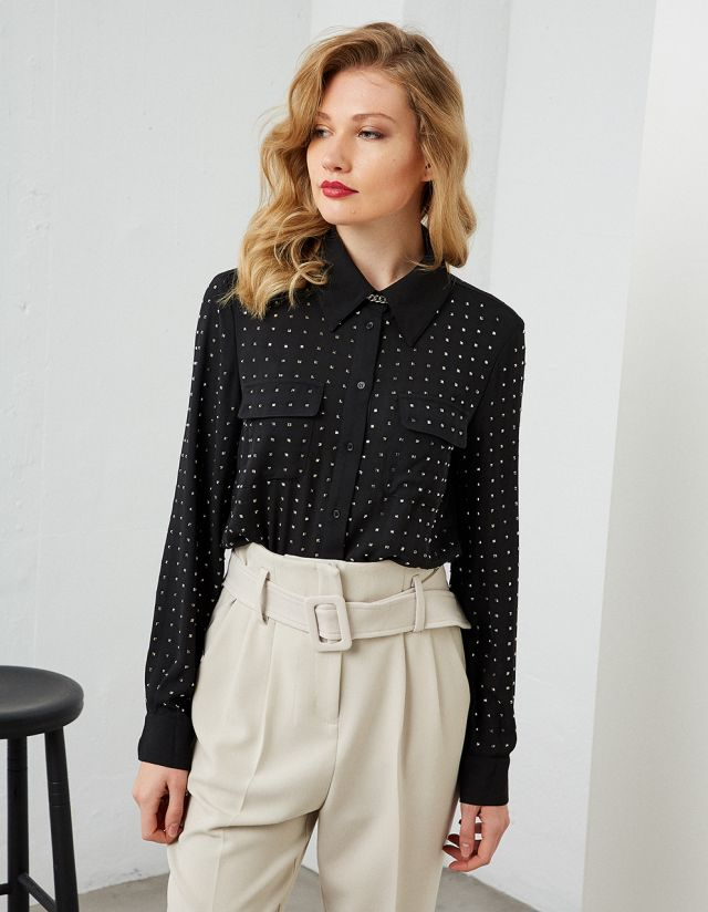 SHIRT WITH STUDS