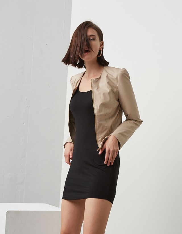 JACKET WITH FRILLS