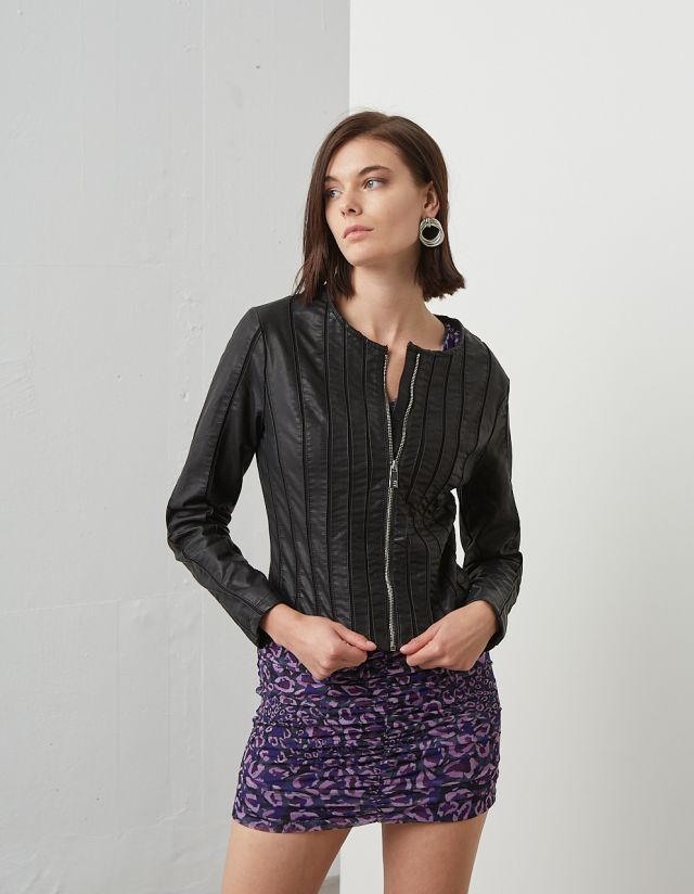 JACKET WITH MESH DETAILS