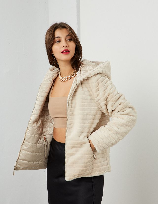 DOUBLE-SIDED HOODED JACKET