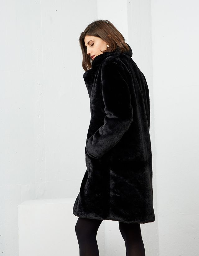 MIDI FAUX FUR COAT