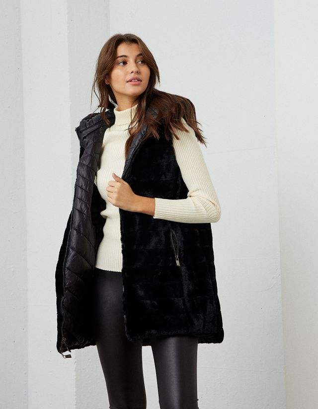 TWO SIDE PUFFER VEST