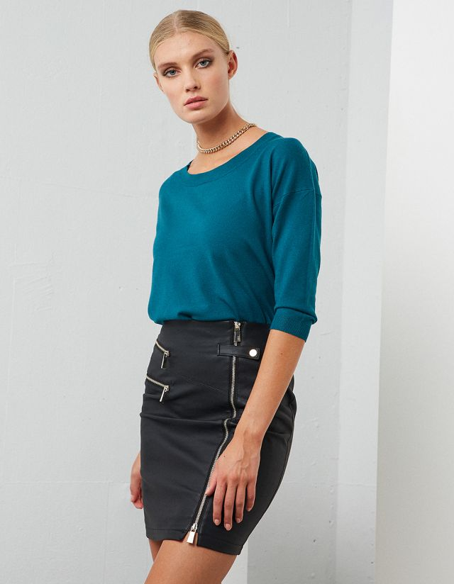 BASIC PULLOVER WITH 3/4 SLEEVES