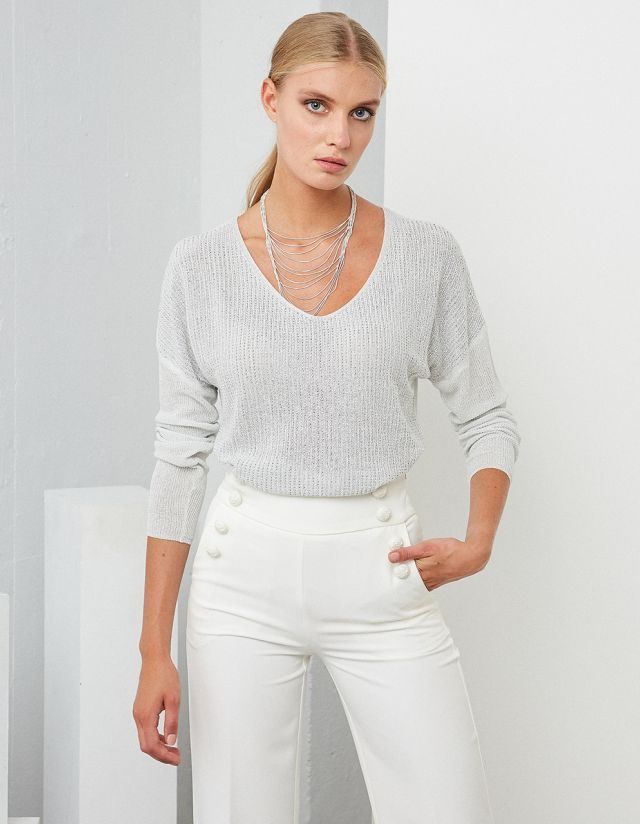 BEJEWELED LIGHTWEIGHT SWEATER