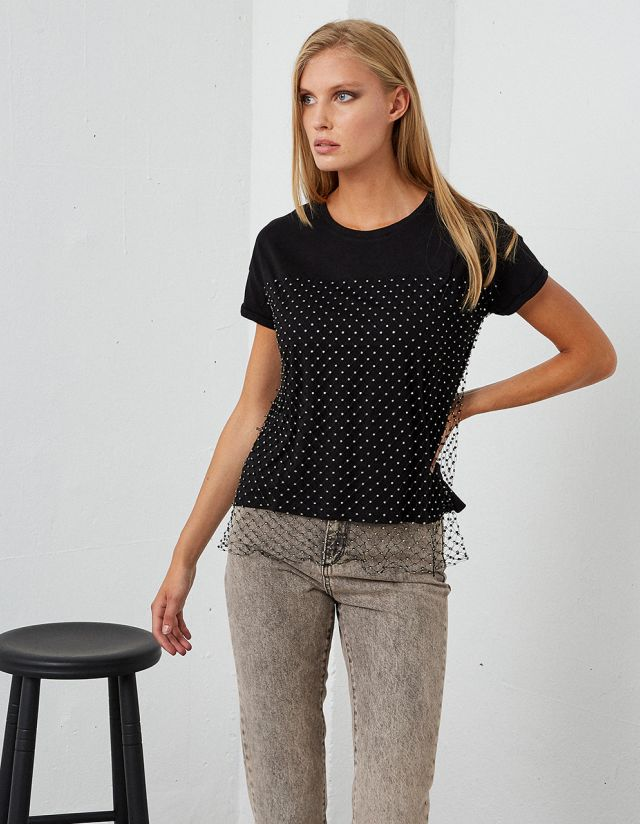 T-SHIRT WITH NET