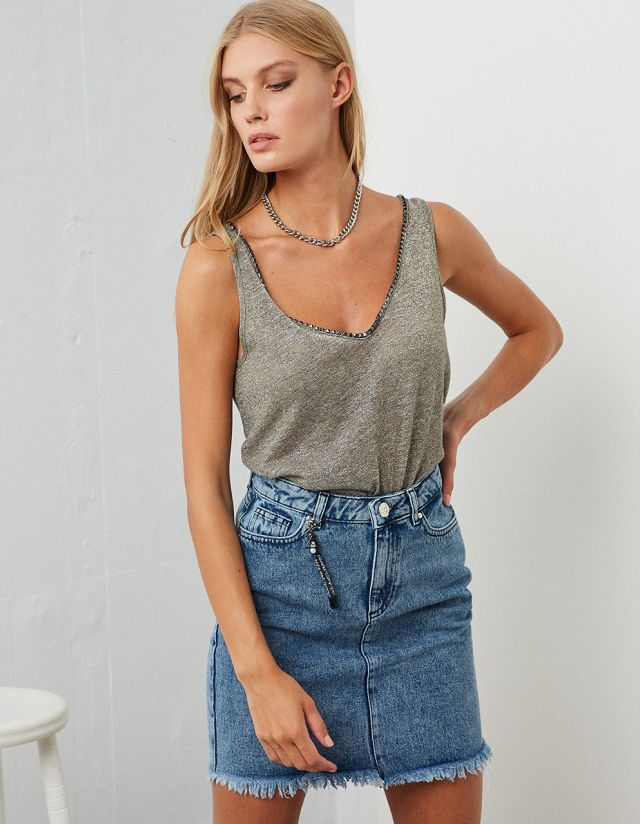 LUREX TOP WITH STUDS
