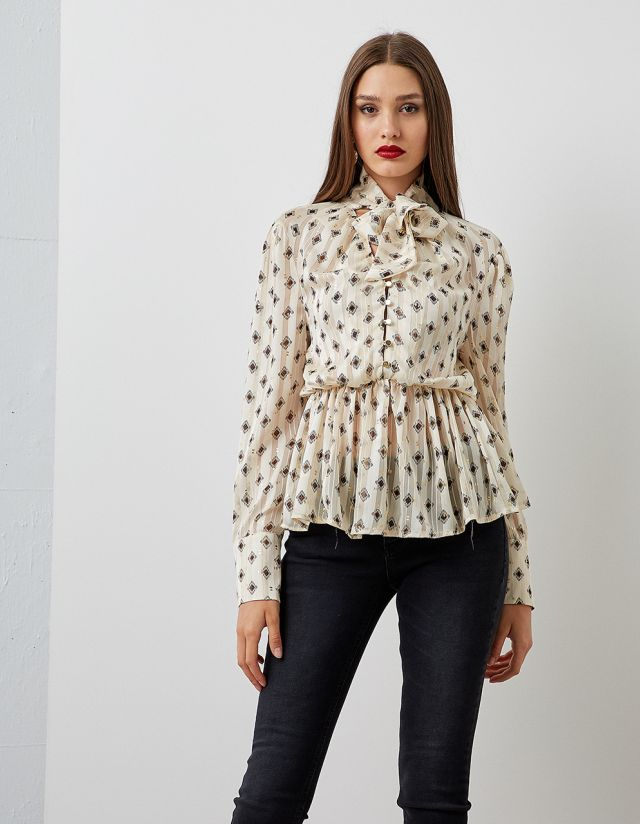 BLOUSE WITH GOLDEN FOIL