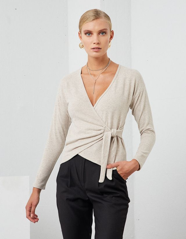 SOFT TOUCH WRAP BLOUSE