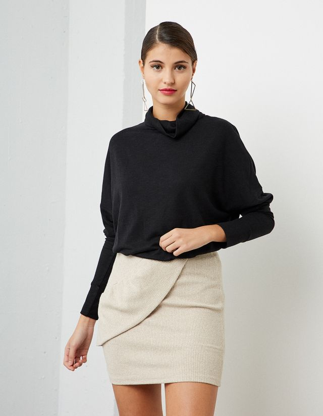 OVERSIZE TURTLENECK TOP