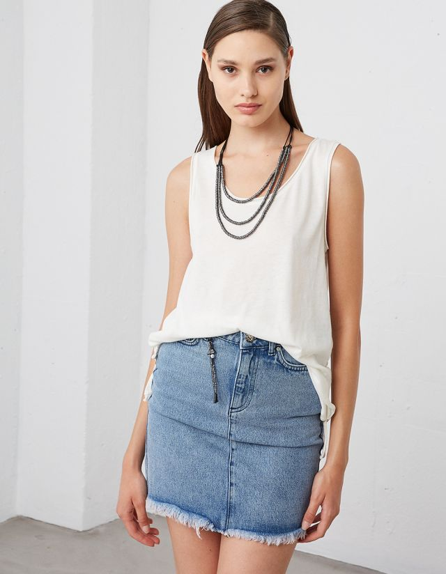 COTTON SLEEVELESS TOP