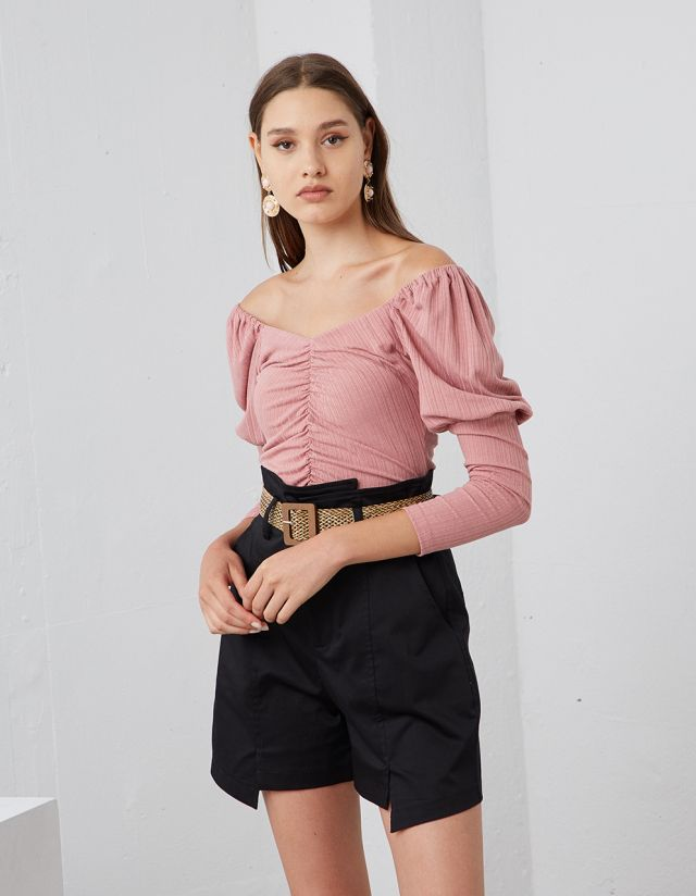 GATHERED TOP