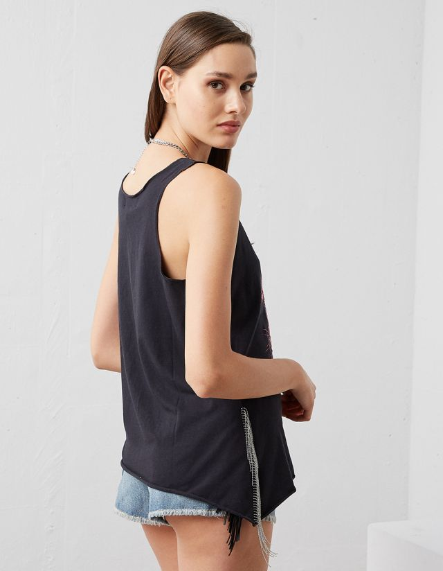 SLEEVELESS T-SHIRT WITH PRINTED TIGER