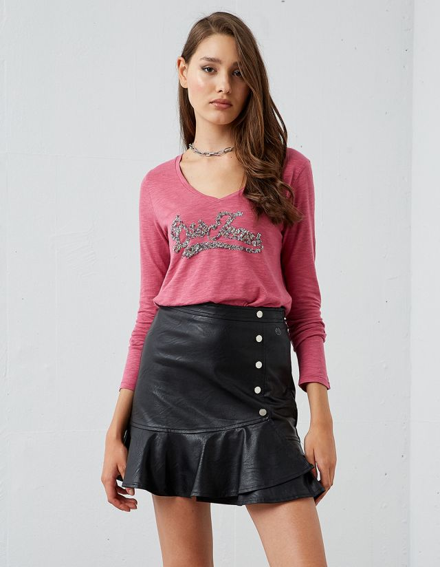 LONG SLEEVE T-SHIRT WITH SEQUINS