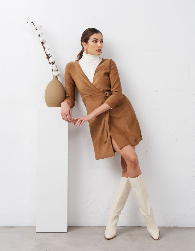 SUEDE TOUCH DRESS