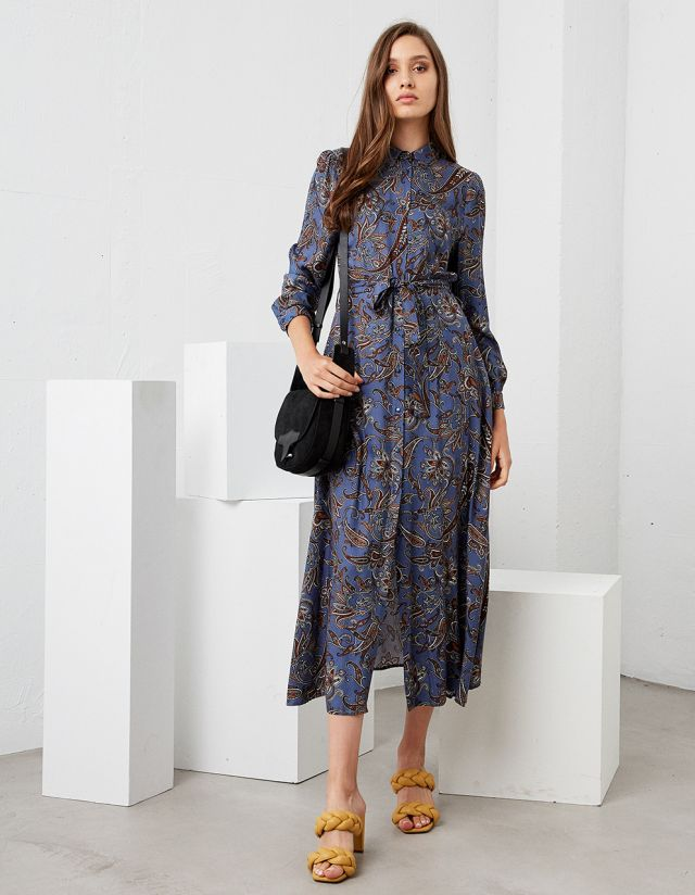 MAXI DRESS WITH PAISLEY PRINT