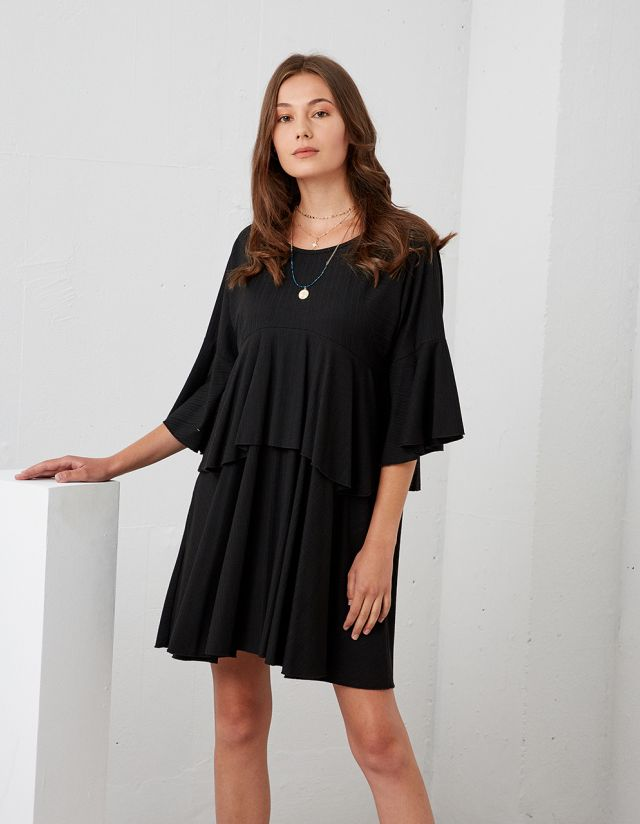 OVERSIZE DRESS WITH FRILLS