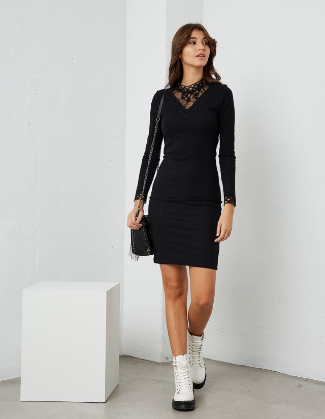 BODYCON RIB DRESS