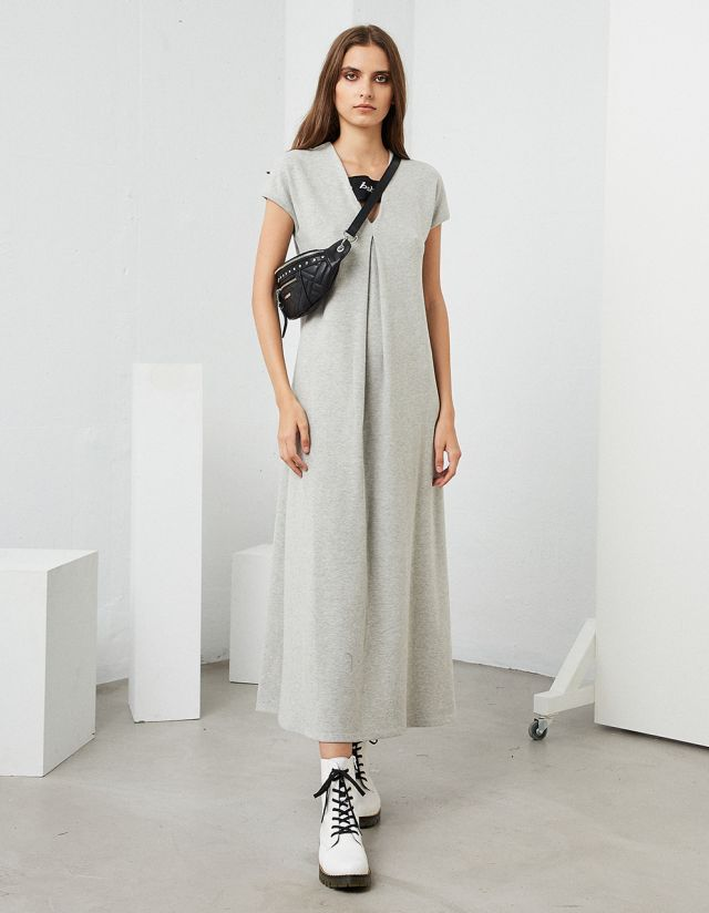 MAXI DRESS WITH COTTON TOUCH