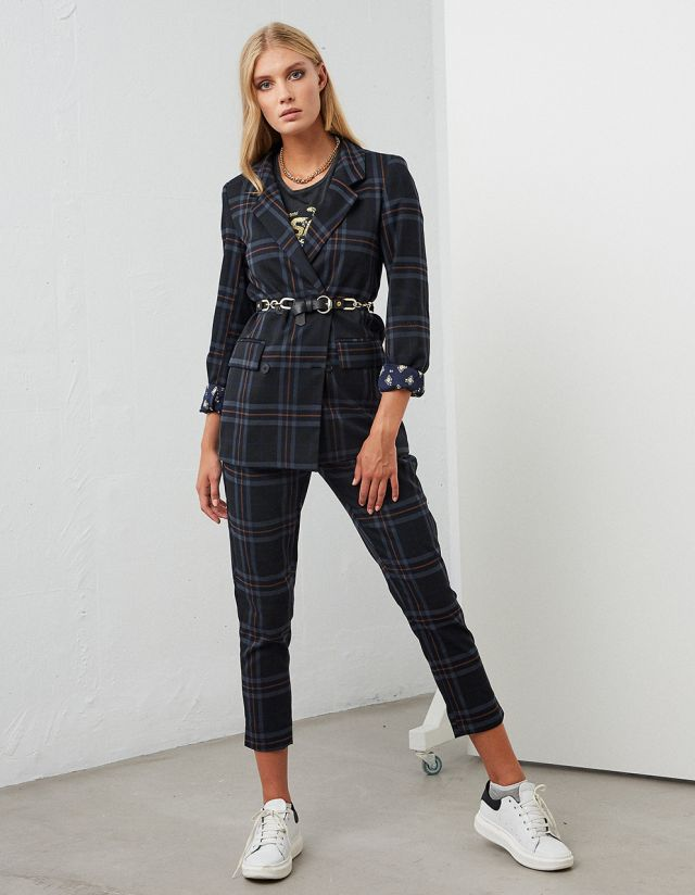 PAPERBAG CHECK TROUSERS