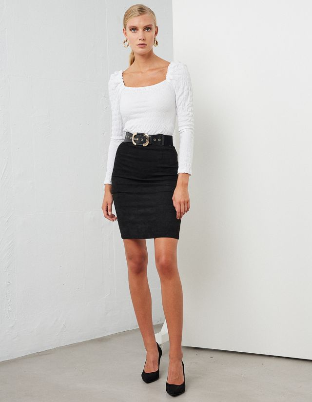SUEDE TOUCH SKIRT