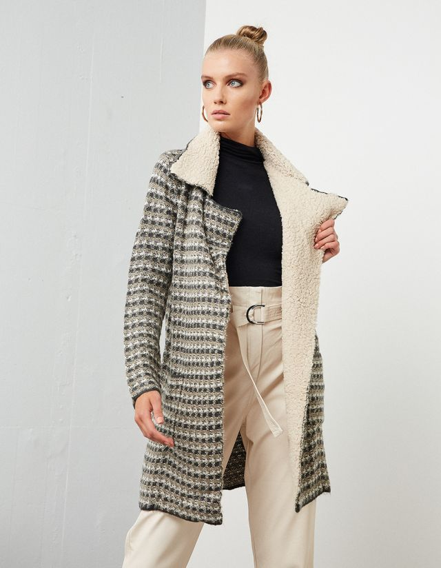 KNITTED CARDIGAN WITH LUREX