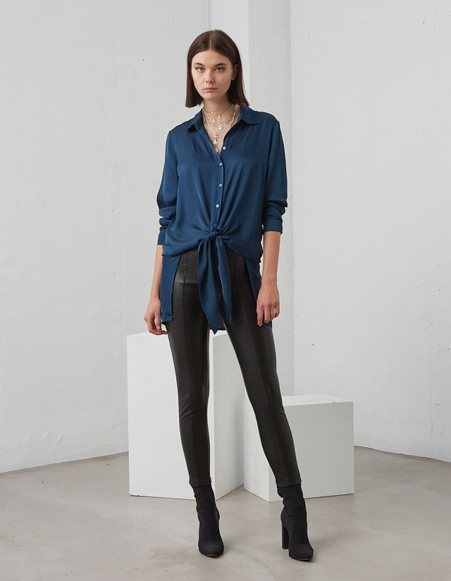 LONG ASYMMETRIC SHIRT